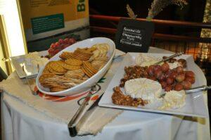 Crackers and Vermont cheese at a Sugarsnap catering Event