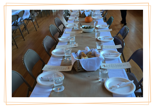 Table setting at a business event by Sugar Snap Catering