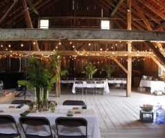 Rustic barn wedding in Vermont.